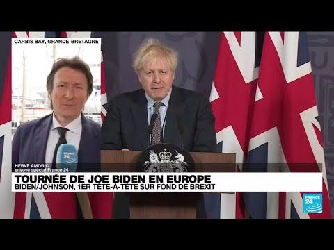 Joe Biden en Europe : premier tête-à-tête avec Boris Johnson sur fond de Brexit