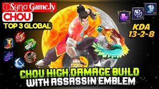 Chou High Damage Build With Assassin Emblem [ Top 3 Global Chou ] ⒾSყɳσ Game.ly Chou Mobile Legends