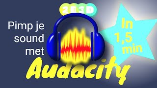 Audacity in 1,5 min - knip, plak en bewerk je geluid