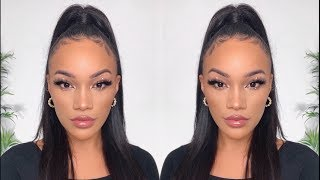 MY GO TO BEAT MAKEUP ROUTINE! EYELINER + FLAWLESS SKIN | ALLYIAHSFACE