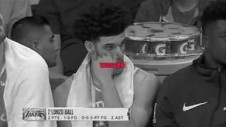 Lonzo Ball (2 Points) Lowlights 2017-11-15 Philadelphia Sixers vs Lakers (benched in the 4th AGAIN)
