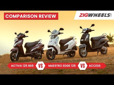 Honda Activa 125 BS6 vs Suzuki Access vs Hero Maestro Edge 125 Review, Mileage, Features & More