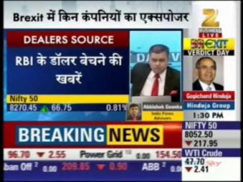40187 Zee Business First Trade 24 June 2016 01min Mr  Abhishek Goenka   CEO, India Forex Advisors