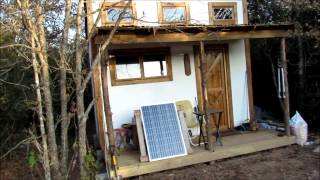 2000$ off grid tiny house tour