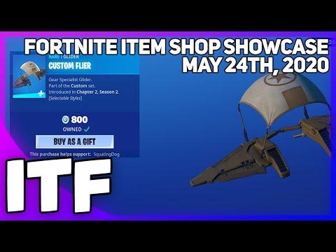 Fortnite Item Shop *NEW* CUSTOM FLIER GLIDER! [May 24th, 2020] (Fortnite Battle Royale)