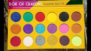 Box of Crayons Eye Shadow Palette from The Crayon Case with swatches