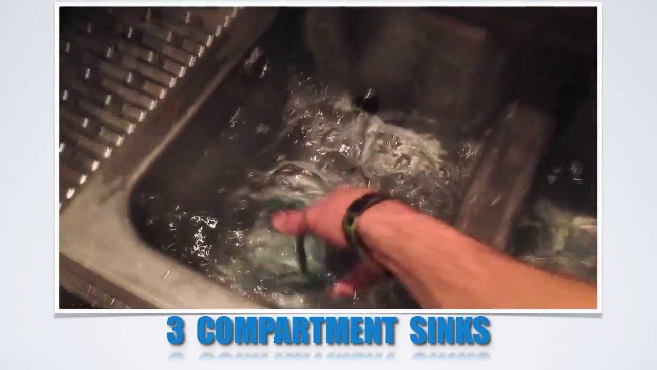 3 Compartment Dish Washing Sink Set Up Youtube