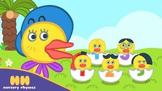 Five Little Ducks Nursery Rhyme | Poem for Kids | HH Nursery Rhymes