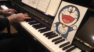 Doraemon Theme Song - Doraemon no Uta, for Piano Solo「ドラえもんのうた」ピアノ