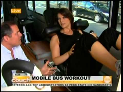 InForm Fitness- WLNY 7 17 2012 8 07AM,  Mobile Bus Workout
