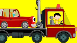 Tow Truck Song | Transport Song Car | Nursery Rhymes For Kids | kids tv cartoon videos