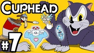 "CUPHEAD + Mugman - 2 Player Co-Op! - Gameplay Walkthrough PART 7: ""Mouser Mecha-Catbot Goes to War!"""