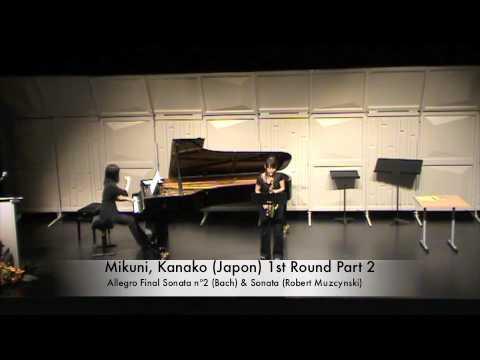 Mikuni, Kanako (Japon) 1st Round Part 2