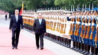 Trung quốc bắn đại bác chào mừng chuyến thăm của Thủ tướng Việt Nam Nguyễn Xuân Phúc