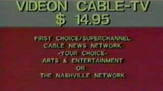 Videon Cable-tv - 1987 Pay-tv Packages