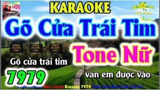 Karaoke 7979 Gõ Cửa Trái Tim Nhạc Sống Tone Nữ || Hiệu Organ Guitar 7979 || Beat Chất Lượng Cao