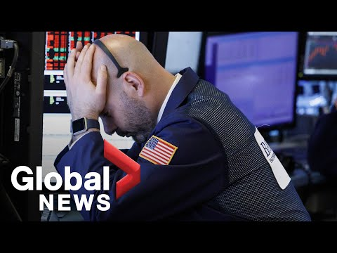 NYSE Big Board: Chinese tariff retaliation causes Dow Jones to plunge