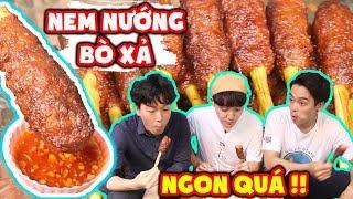 3 chàng trai Hàn Quốc đã lỡ nghiện Nem Bò Nướng Sả Việt Nam ???