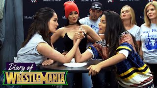 LILLY SINGH VS. BRIE BELLA | EPIC ARM WRESTLING MATCH! - Diary of WrestleMania