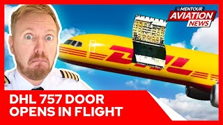 Boeing 757 diverts after Cargo door OPENS IN FLIGHT! Mentour Aviation News
