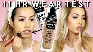 THAT NEW NEW | NYX COSMETICS CAN'T STOP WON'T STOP FOUNDATION | WEAR TEST REVIEW