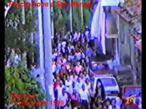 San Menale: processione Rofrano 7 settembre 1990