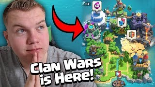 NEW UPDATE! Clan Wars LIVE Collection Day Gameplay - Clash Royale