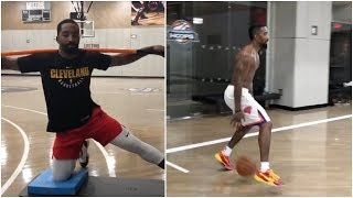 JR Smith is training hard in hopes of finding a new team to play for