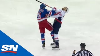 Pavel Buchnevich Gets Game Misconduct For Crosschecking Anthony Mantha In Face