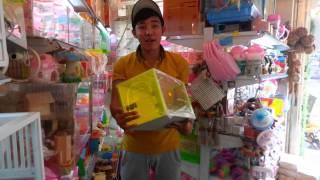 Chuong va do choi cho thu cung vat nuoi.