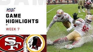 49ers vs. Redskins Week 7 Highlights | NFL 2019