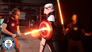 World's First Lightsaber! - Guinness World Records