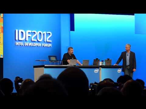 Intel Ultrabook Voice Dragon Assistant IDF San Francisco 2012