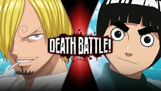 Sanji VS Rock Lee (One Piece VS Naruto) | DEATH BATTLE!