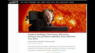 Hawking's Final Theory Opens Eyes To The MATRIX! Could this Explain Mandela Affect. Must Watch