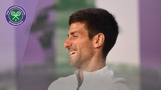 Novak Djokovic Winner's Press Conference Wimbledon 2019