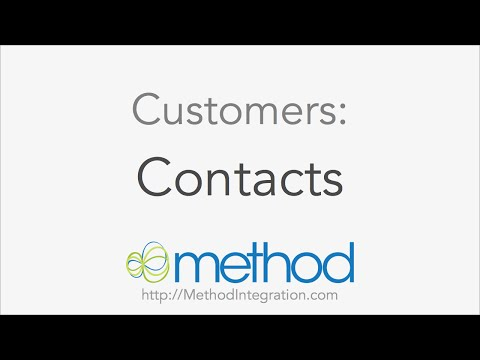 [Method CRM] Customers 02 - Contacts