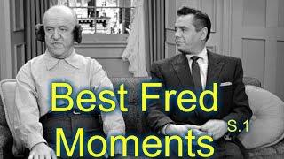 I Love Lucy--Fred Mertz (William Frawley)--8 Best Moments (Season 1)
