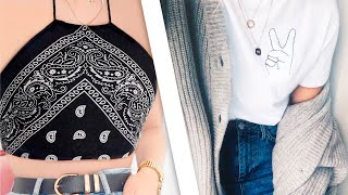 DIY Turn Old Clothes Into New! 7 Thrift Flip Ideas   Clothing Hacks