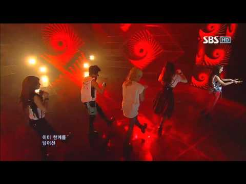 f(x) [Electric Shock] @SBS Inkigayo 인기가요 20120624