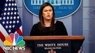 White House Press Briefing - August 14, 2018 | NBC News