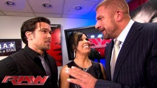 Vickie Guerrero explains her decision making to Triple H: Raw, June 17, 2013
