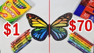 $70 PREMIUM ELITE CRAYONS VS $1 CRAYOLA CRAYONS: Which is worth the money?