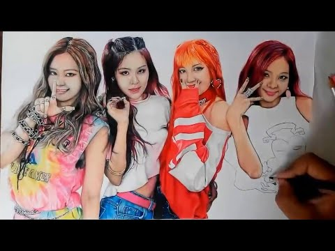 Drawing BLACKPINK 'As if it's your last' Time lapse