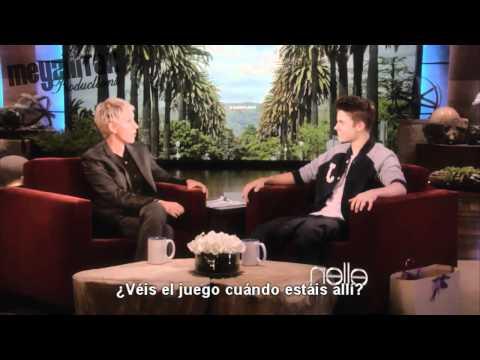 Justin Bieber habla de Selena en Ellen (Traducido al Español)