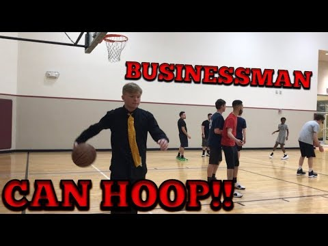 Businessman plays pick up games at LA Fitness!