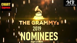 Grammy's 2019 - Nominees | The 61st Grammy Awards 2019 | Feb 10th, 2019 | ChartExpress