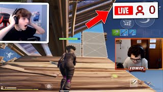 Reacting to Fortnite Mobile Streamers with 0 VIEWERS...