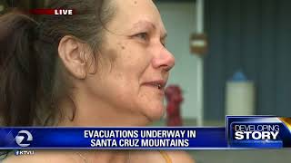 Woman loses home in Santa Cruz Mountains fire