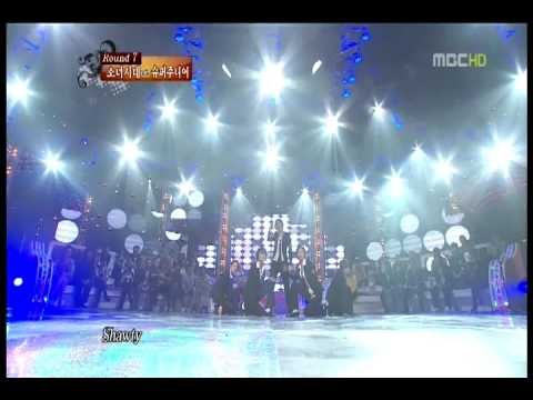 Girls' Generation (SNSD) - Sorry Sorry + Smooth Criminal @ MBC Dance Battle 091004
